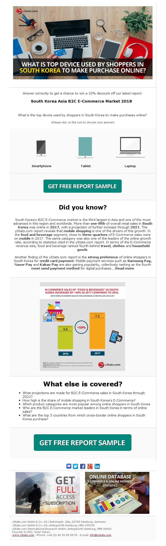 South Korea B2C E-Commerce 2018