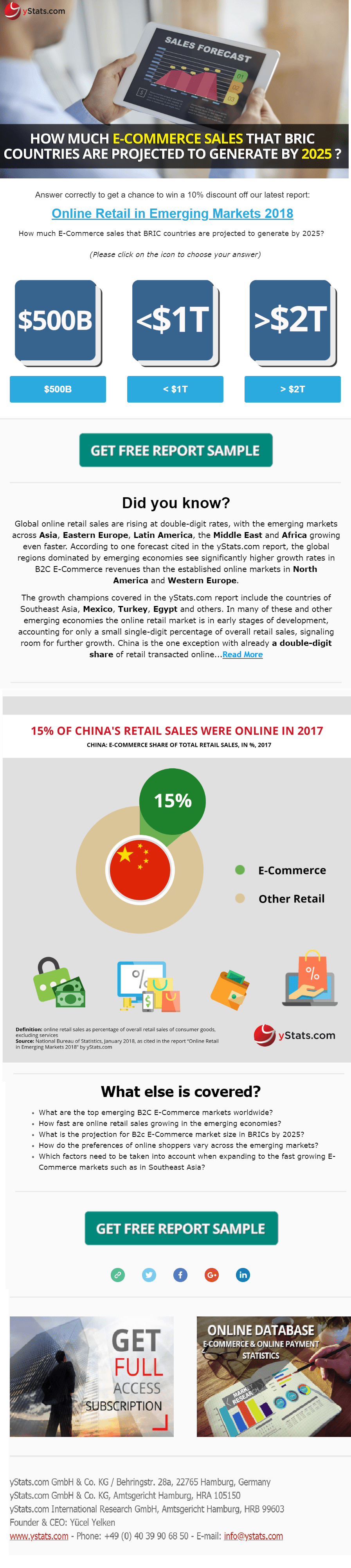Online retail emerging markets 2018